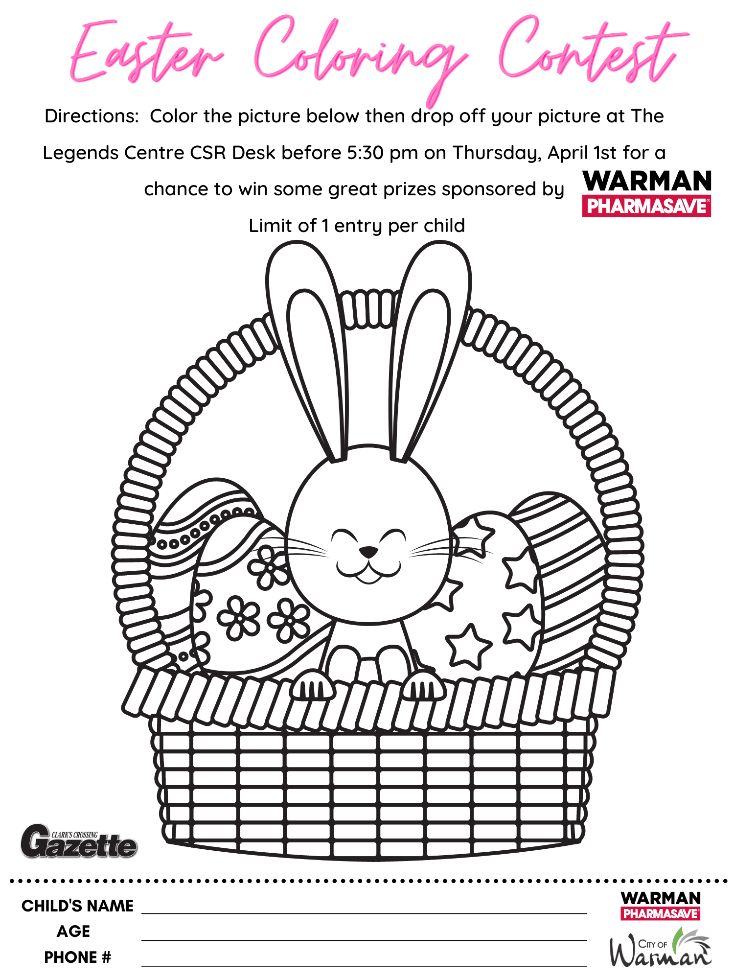 Easter Egg Coloring Page 2021