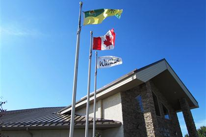 Warman CIty Hall Flags