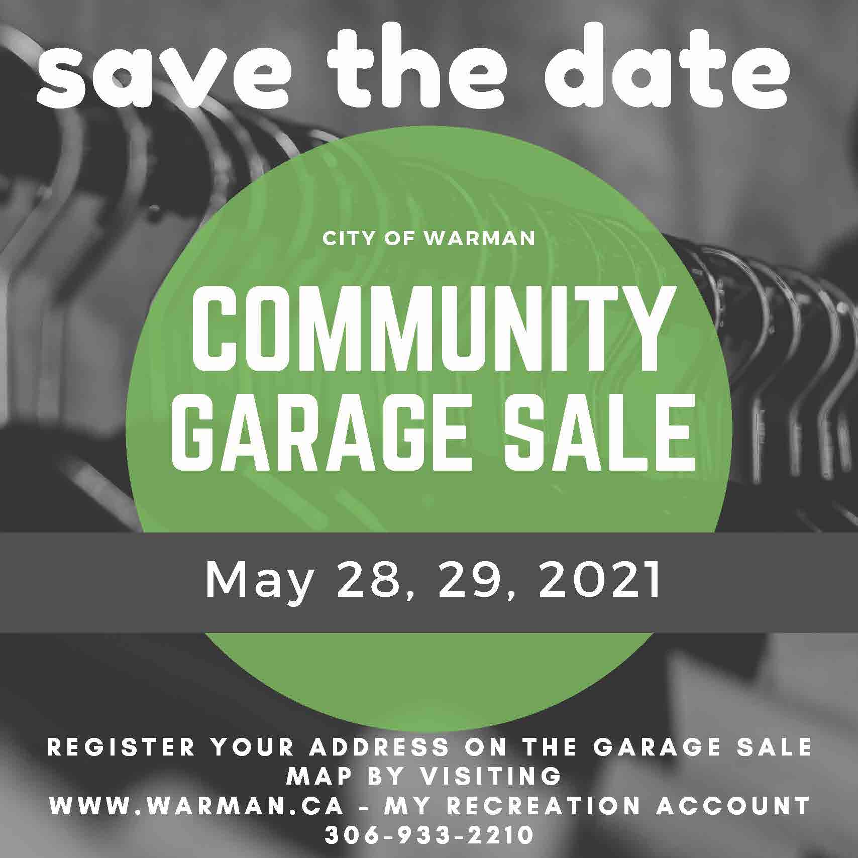 Garage Sale spring 2021 - save the date